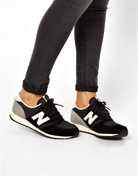 New Balance 420 Black And Gray Suede Sneakers Womens