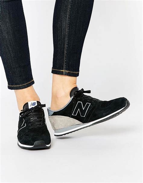 New Balance 420 Black Perforated Suede Sneakers