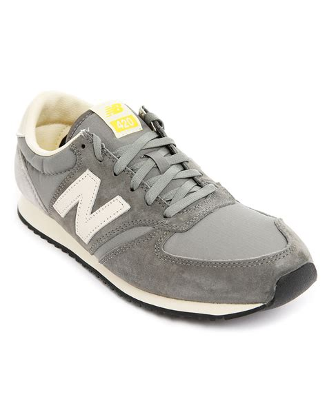 New Balance 420 Gray Suede Sneakers