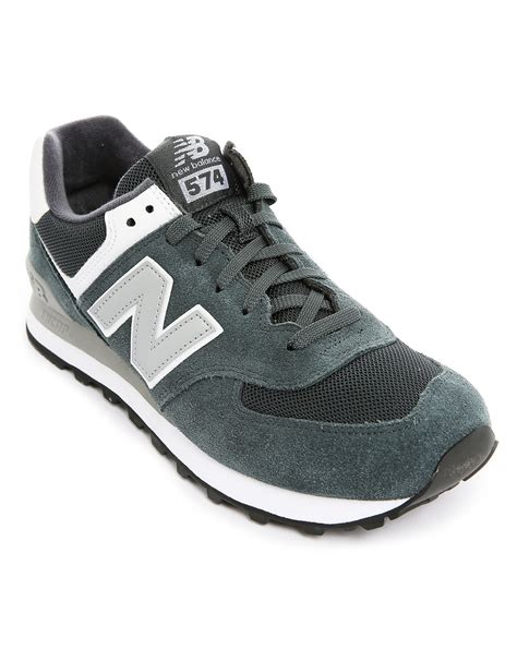 New Balance 574 Mens Sneaker Shoes Black Grey