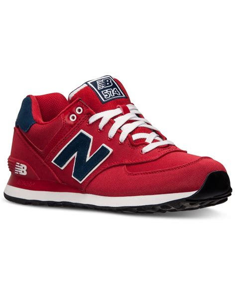 New Balance 574 Pique Polo Red Sneakers