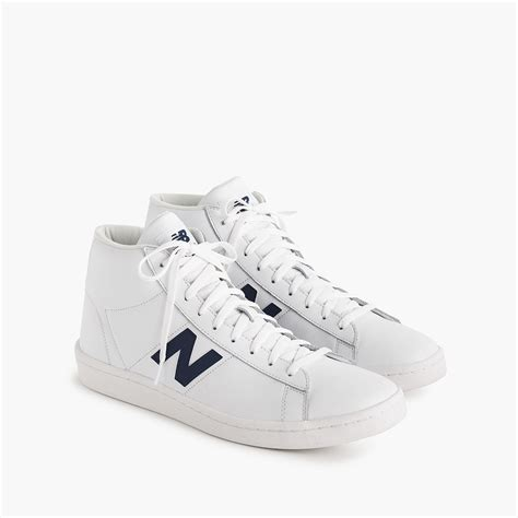 New Balance 891 Leather High Top Sneakers In White