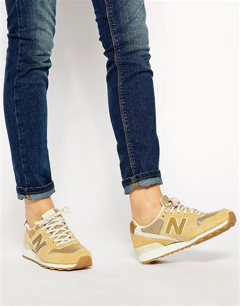 New Balance 996 Suede Gold Sneakers