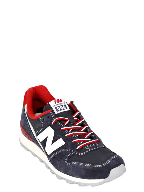 New Balance 996 Suede Nylon Sneakers