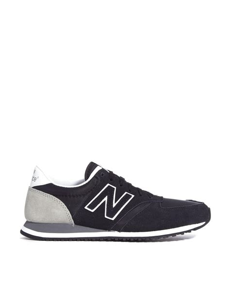 New Balance Black And Gray 420 Suede Mix Sneakers