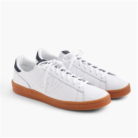 New Balance For J Crew 791 Pure White Leather Sneakers