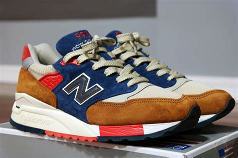 New Balance For J Crew 998 Hilltop Blues Sneakers