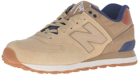 New Balance Men's 574 Collegiate Pack Fashion Sneaker Linseed
