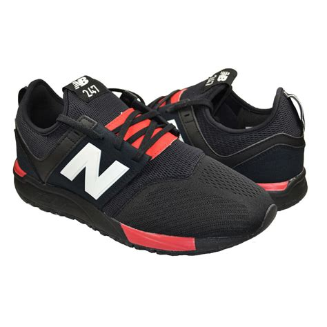 New Balance Men's Fashion Sneakers 247 Mesh Black Red Mrl247bc