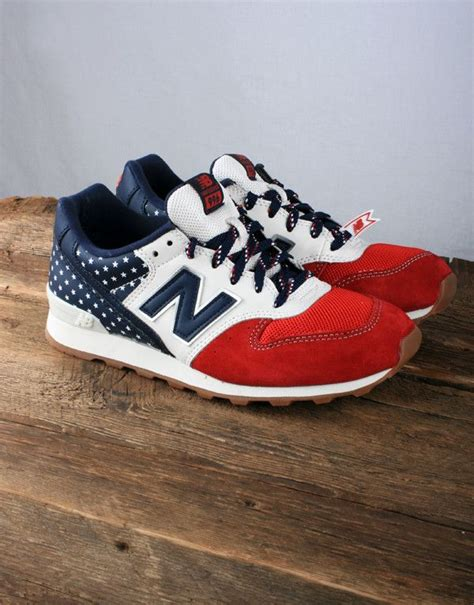 New Balance Red White And Blue Sneakers
