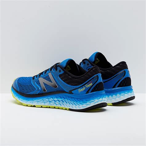 New Balance Sneakers Yellow Laces Blue