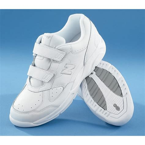 New Balance White Velcro Sneakers