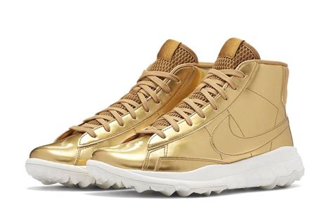 New Gold Nike Sneakers