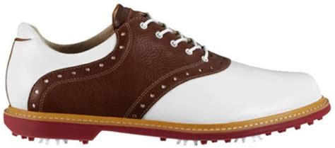 New Mens Ashworth Kingston Golf Shoes White/Tan/Brown/Red Sz 9 M