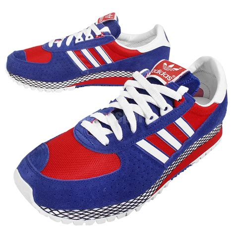 New White Red And Blue Adidas Sneakers