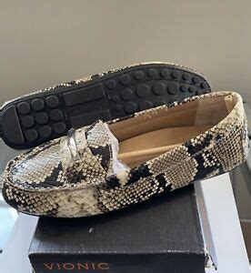 New Women's Honor Ashby Loafer Natural Snake 7.5