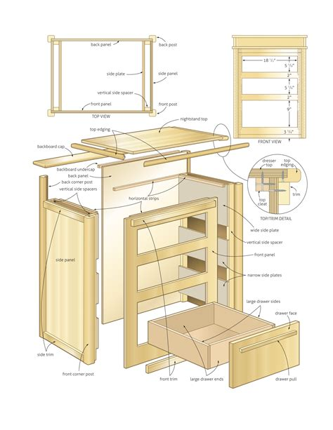 Nightstand Downloadable Woodworking Plans Free