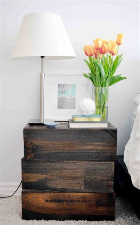 Nightstand Wood Diy Wall