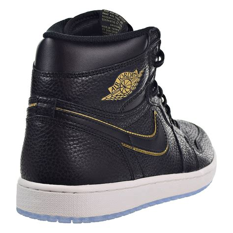 Nike Air 1 Retro High OG Men's Shoes Black/Metallic Gold 555088-031 (10 D(M) US)