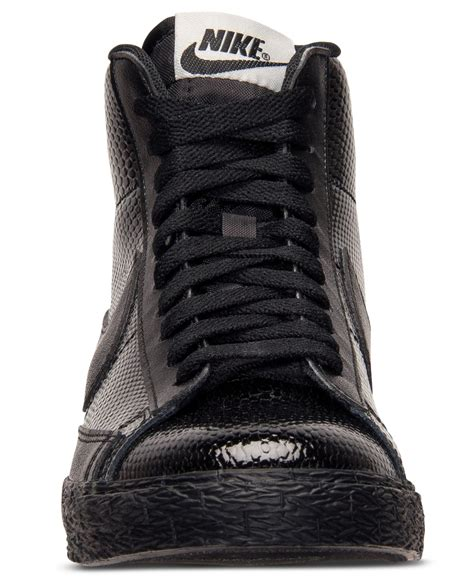 Nike Black Leather Sneakers Womens
