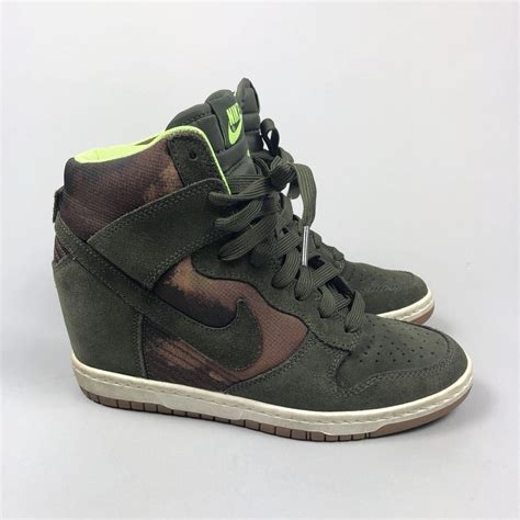 Nike Camouflage Wedge Sneakers