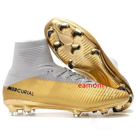 Nike Cr7 White Gold Sneakers
