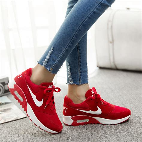Nike Red Wedge Sneakers