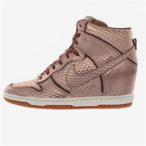 Nike Rose Gold Wedge Sneakers