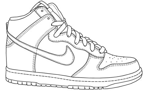 Nike Sneaker Coloring Pages
