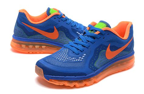 Nike Sneakers Orange And Blue