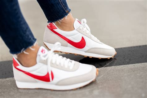 Nike White And Red Sneakers
