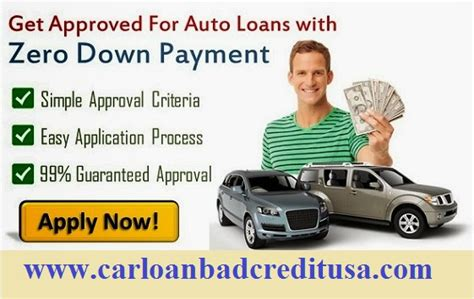 No Down Payment Auto Loan
