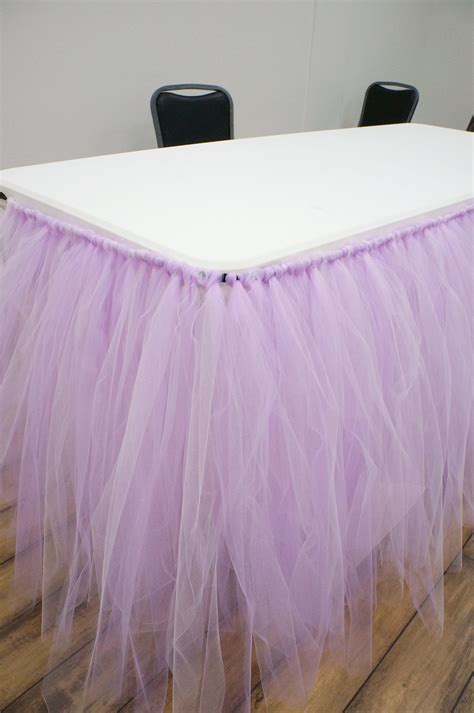 No Sew Tulle Table Skirt Diy Room