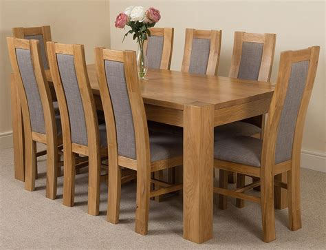 Oak Dining Table 8 Chairs