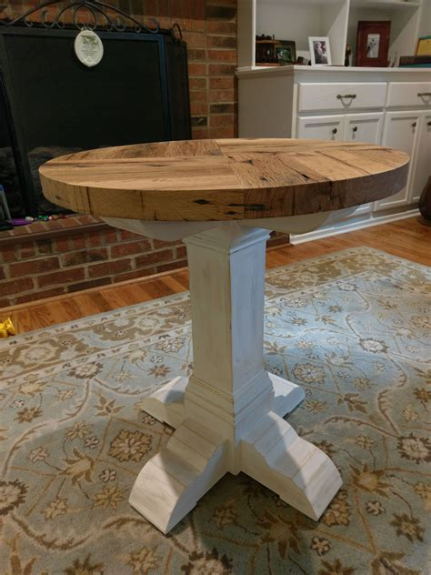 Oak End Table Diy Shelves
