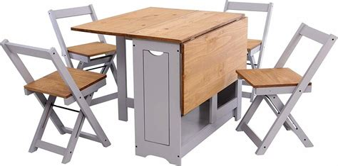 Oak Folding Dining Table And Chairs