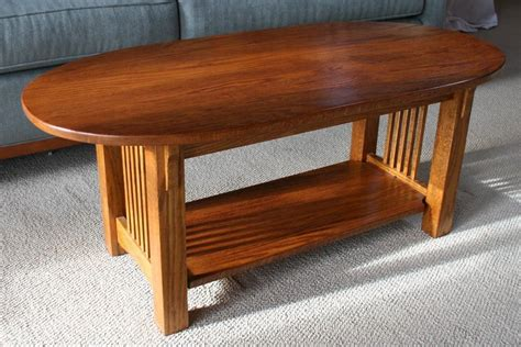 Oak Mission Style Coffee Table Plans