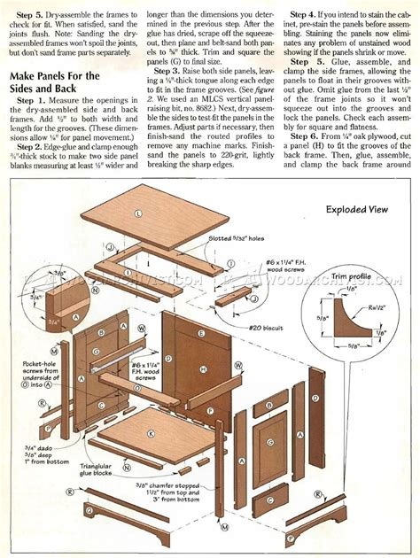 Oak Nightstand Plans Woodworking