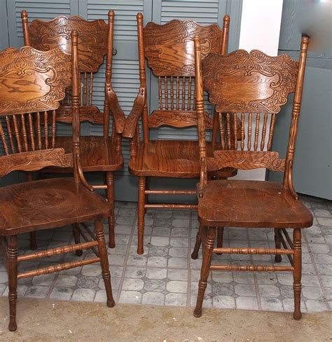Oak Spindle Back Dining Chairs