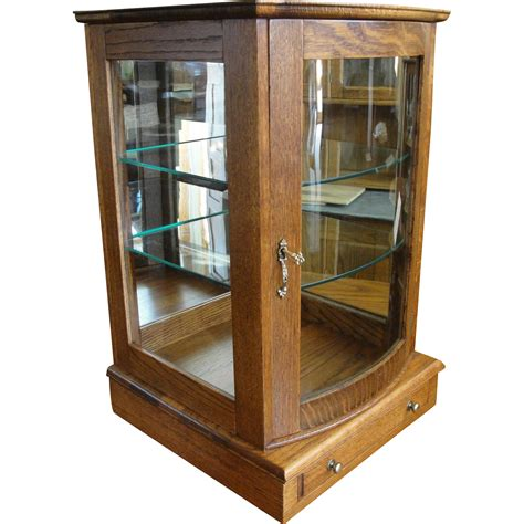Oak Table Top Display Cases
