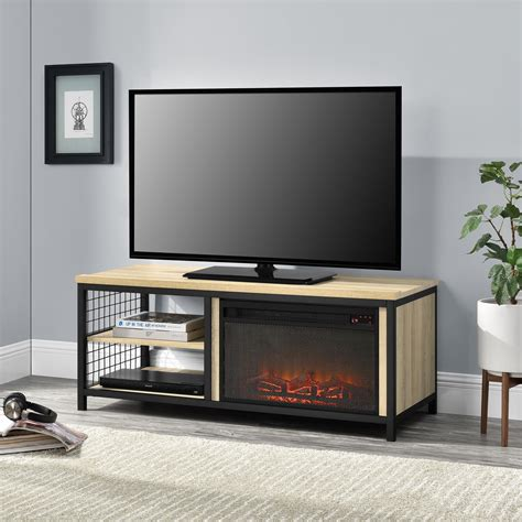 Oak tv stand with mount Image