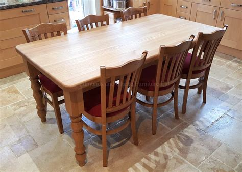 Oak-Farm-Table-And-Chairs