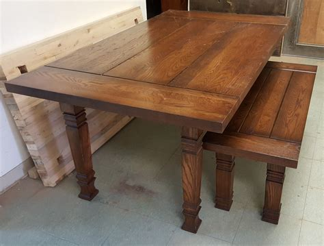 Oak-Farmhouse-Table-And-Bench
