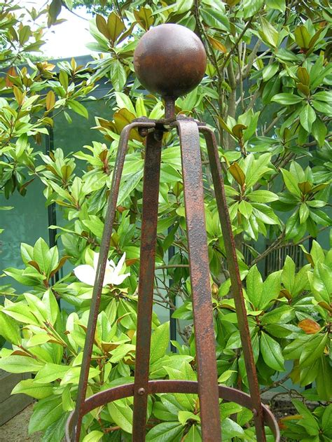Obelisk for garden plants Image