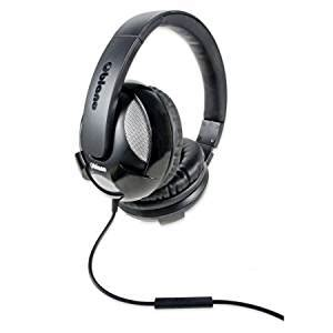 Oblanc OG-AUD63042 U.F.O. Around-Ear Audio Headphones with Invisible In-line Microphone BLACK