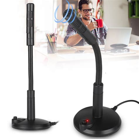Ocamo USB Condenser Microphone Plug and Play Home Studio Microphones for PC Laptop MAC