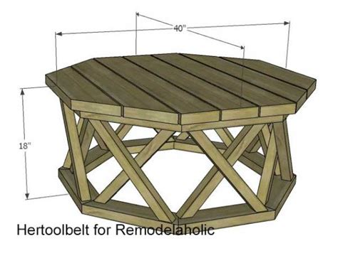 Octagon Deck Table Plans With Center Leg Channel