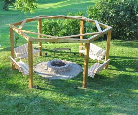 Octagon Fire Pit Swing Plans