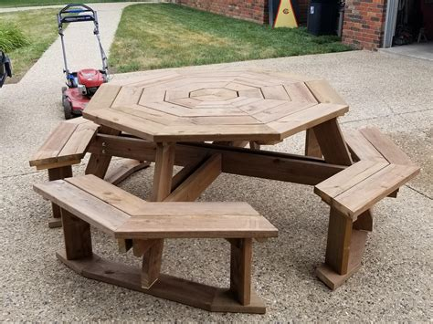 Octagon Picnic Table Diy Large