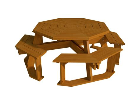 Octagon Picnic Table Plans And Drawings For Making